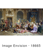 #18665 Photo Of Parrots And Entertainers Performing For Empress Anna Anna Of Russia Queen Anna