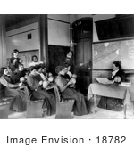 #18782 Photo Of A Class Of Students At Hampton Institute Studying Astronomy