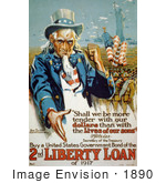 #1890 Uncle Sam Buy A United States Government Bond Of The 2nd Liberty Loan Of 1