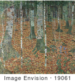 #19061 Photo Of A Forest Of Birch Trees By Gustav Klimt