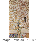 #19067 Photo Of Detail Of The Tree Of Life By Gustav Klimt