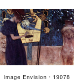 #19078 Photo Of A Woman Playing An Instrument Musique Die Musik Music Or The Music By Gustav Klimt