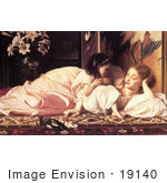 #19140 Photo Of A Daughter Feeding Her Mother Fruit Mother And Child By Frederic Lord Leighton