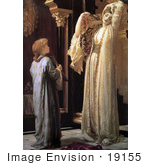 #19155 Photo Of A Girl Holding A Mirror For A Beautiful Woman Light Of The Harem By Frederic Lord Leighton
