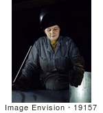 #19157 Photo Of A Female Welder Woman At The Heil And Co 1943
