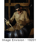 #19201 Photo Of A Man Gas Welding A Joint In A Line Of Spiral Pipe At The Douglas Dam