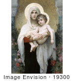 #19300 Photo Of The Madonna Of The Roses By William-Adolphe Bouguereau