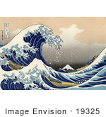 #19325 Photo Of A Tsunami Wave Near Mount Fuji The Great Wave Off Kanagawa By Katsushika Hokusai