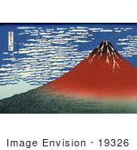 #19326 Photo Of Mount Fuji In Clear Weather Red Fuji By Katsushika Hokusai