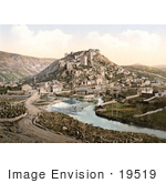 #19519 Photo Of Buildings On A Hill Near The Miljacka River In Sarajevo Bosnia