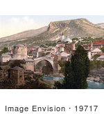 #19717 Photo Of The Old Stari Most Bridge Over The Neretva River In Mostar Herzegowina