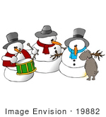 #19882 Clipart Ilustration Of A Mutt Dog Pissing On A Snowman
