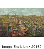 #20162 Stock Photography: the Battle of Shiloh, the Battle of Pittsburg Landing, 1862 by JVPD