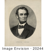#20244 Historical Stock Photography: President Abraham Lincoln