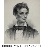 #20254 Historical Stock Photography: Abe Lincoln Looking Off To The Right