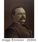 #20304 Historical Stock Photo Of Grover Cleveland The 22nd President Of The United States
