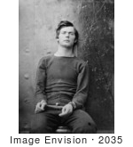 #2035 Lewis Payne In Sweater Seated And Manacled