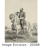 #20368 History Stock Photo Of General James Garfield On A Horse
