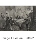 #20372 History Stock Photo Of The Family Of The 20th American President James Garfield