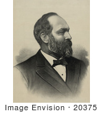 #20375 History Stock Photo Of The 20th President Of The Usa James Garfield