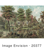 #20377 Historical Stock Photo Of The Home Of General Ulysses S Grant St Louis County Missouri
