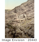 #20443 Historical Stock Photography Of The Convent Of Elijah And Brook Of Kerith Wady-El-Keit Holy Land