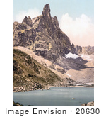 #20630 Historical Photochrome Stock Photography Of Mt Surlon And Sorapiss Tyrol Austria