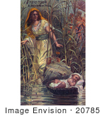 #20785 Stock Photography Of Miriam Finding The Infant Moses Among The Rushes