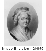 #20855 Stock Photography Of First Lady Martha Washington Wife Of American President George Washington