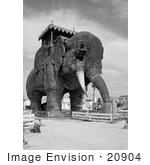 #20904 Stock Photography of Lucy the Elephant, Margate Elephant, Margate City, New Jersey by JVPD
