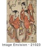 #21023 Stock Photography Of Three Asian Women Dancing