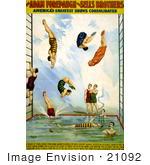 #21092 Stock Photography Of The Adam Forepaugh And Sells Brothers Pearle Divers