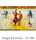 #21106 Stock Photography Of The Miraculous Melrosas Of The Adam Forepaugh And Sells Brothers Riding Bicycles On Tightropes
