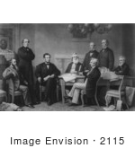 #2115 The First Reading Of The Emancipation Proclamation Before The Ca