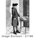 #21196 Stock Photography Of Adam Smith Standing By A Table