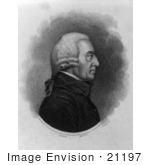 #21197 Stock Photography Of Adam Smith In Profile