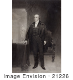 #21226 Stock Photography Of A Mezzotint Of Daniel Webster