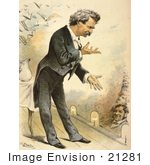 #21281 Stock Photography Of Mark Twain On A Stage Giving A Speech