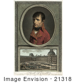 #21318 Stock Photography Of Napoleon Bonaparte Over A Scene Of Troop Review