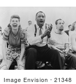 #21348 Stock Photography Of Paul Robeson And Jose Ferrer Watching A Baseball Game