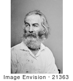 #21363 Historical Stock Photography Of Walt Whitman Looking To The Side