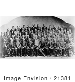 #21381 Historical Stock Photography Of William T Sherman Posed With Union Veterans Of The Civil War