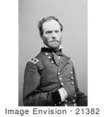 #21382 Historical Stock Photography Of William T Sherman Seated With One Hand Inside His Jacket