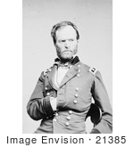 #21385 Historical Stock Photography Of William T Sherman One Hand Inside His Jacket