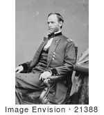 #21388 Historical Stock Photography Of William T Sherman Sitting In A Chair