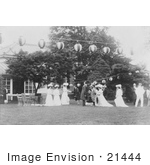 #21444 Stock Photography of Alice Roosevelt Longworth and Royal Princesses at a Garden Party, 1905 by JVPD