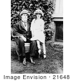 #21648 Stock Photography of Charles E Hughes Sitting in a Chair With His Granddaughter Elizabeth Beside Him by JVPD