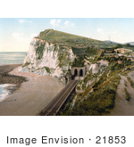#21853 Historical Stock Photography of Shakespeare's Cliff Train Tunnel in Dover, England by JVPD