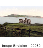 #22082 Stock Photography Of The Sandsfoot Castle Ruins On The Isle Of Portland In Dorset England