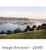 #22087 Stock Photography Of Ships In The Harbor At Teignmouth Devon England United Kingdom
